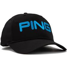 PING Men's Tour Light Personalized Hat - Black-Birdie Blue