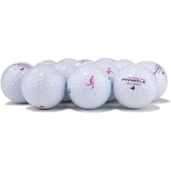 Pinnacle Gold Ribbon Golf Balls for Women