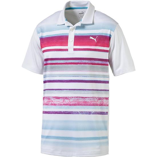 Puma Men's Washed Stripe Polo