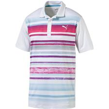 Puma Men's Washed Stripe Polo