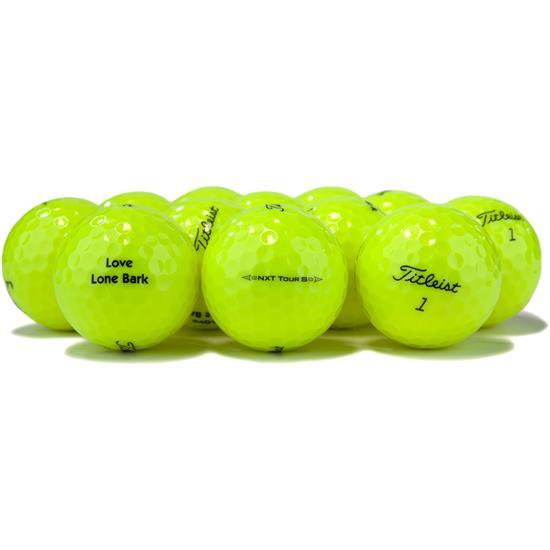 Titleist NXT Tour S Yellow Logo Overrun Golf Balls