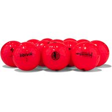 Volvik Logo Overrun Crystal Red Golf Balls