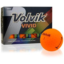 Volvik Vivid Matte Sherbet Orange Golf Balls