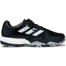 Adidas Core Black-White-Metallic Silver Adipower Boost 3 Golf Shoes Closeout Model