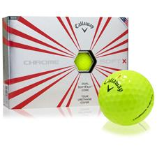 Callaway Golf Prior Generation Chrome Soft X Yellow Personalized Golf Balls