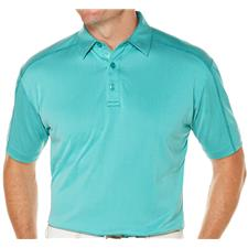 Callaway Golf Men's Denim Jacquard Stitch Detail Polo