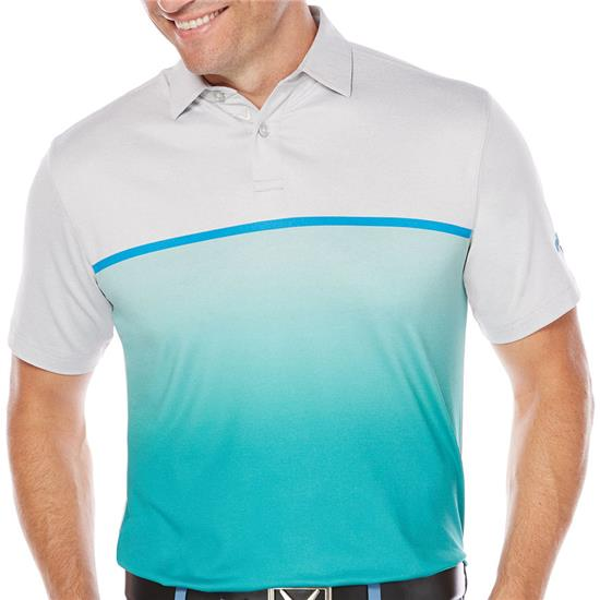 Callaway Golf Men's Fade-Printed Heather Block Polo