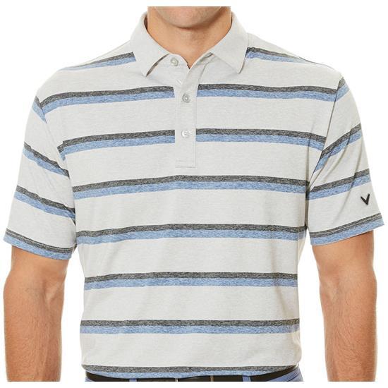 Callaway Golf Men's Heather-Print Striped Polo