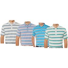 Callaway Golf Men's Heather-Print Striped Polo