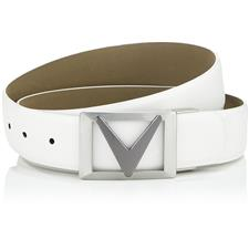 Callaway Golf Signature Chevron Belt - Bright White - Cut to Size