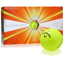 Callaway Golf Superhot 70 Yellow Personalized Golf Balls