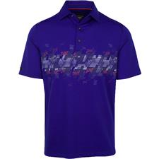 Greg Norman Men's Breaking Par Screen Print Polo