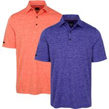 Greg Norman Men's Heathered Stripe Polo
