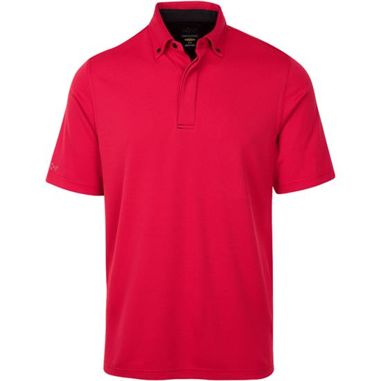 Greg Norman Men's Speed of Light Button Down Micro Jacquard Polo