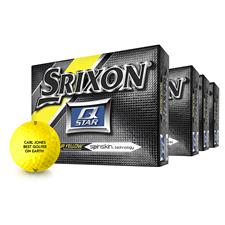 Srixon Q Star Yellow Golf Balls - Buy 3 DZ Get 1 DZ Free