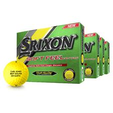 Srixon Soft Feel Yellow Personalized Golf Balls - Buy 3 DZ Get 1 Free