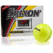 Srixon Z Star XV Tour Yellow Personalized Golf Balls