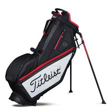 Titleist Players 4-Way Personalized Stand Bag - Black-White-Red
