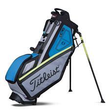 Green Golf Bags Stand Cart And Staff Golfballs Com
