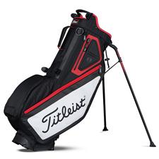 Titleist Players 5-Way Personalized Stand Bag - Black-White-Red