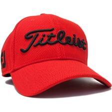 Titleist Men's Players Deep Back Staff Collection Fitted Hat - Red-Black - Medium/Large