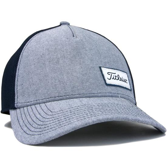 b718dd7434c Titleist Men s West Coast Oxford Collection Fitted Hat - Navy - Medium Large  Golfballs.com