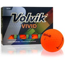 Volvik Vivid Matte Orange Custom Logo Golf Balls