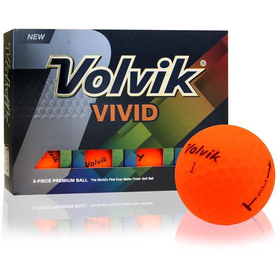 Volvik Vivid Matte Orange Golf Balls