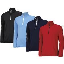 Adidas Men's ClimaWarm 3-Stripes 1/2 Zip Layering Top
