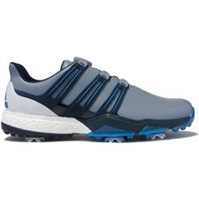 wholesale dealer c9ac2 2fd32 Adidas Light Grey-Dark Slate-Blast Blue Powerband BOA Boost Golf Shoes