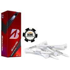 Bridgestone Custom Logo B330 RX B Mark, Black Chip Marker and Tee Kit