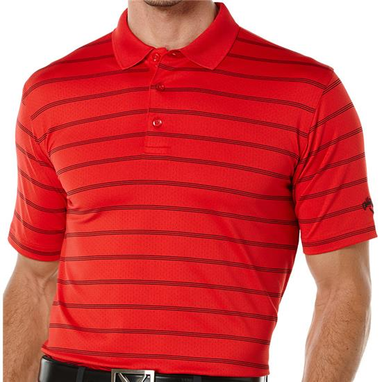 Callaway Golf Men's Opti-Dri Striped Polo