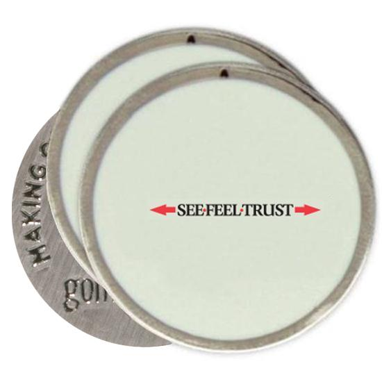 Classic Linear See Feel Trust Logo Ball Markers - 3 Pack