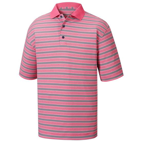 FootJoy Men's Heather Lisle Stripe Knit Collar Prior Season Polo