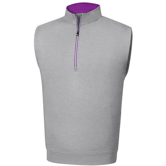 FootJoy Men's Performance Half-Zip Vest with Gathered Waist