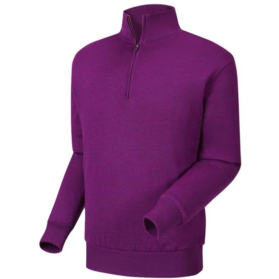 FootJoy Men's Performance Lined Half-Zip Solid Sweater