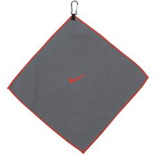 Nike 14x14 Microfiber Personalized Towel - Dark Grey-Max Orange