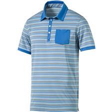 Puma Men's Tailored Pocket Stripe Polo