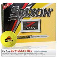 Srixon Custom Logo 2017 Z Star Tour Yellow Golf Balls