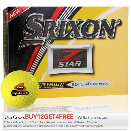 Srixon 2017 Z Star Tour Yellow Golf Balls