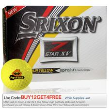 Srixon Custom Logo Z Star XV Tour Yellow Golf Balls