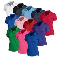 Under Armour Custom Logo Leader Short Sleeve Polo for Women