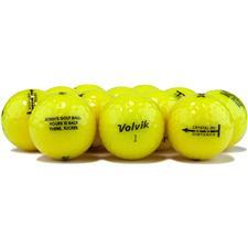 Volvik Logo Overrun Crystal Yellow Golf Balls