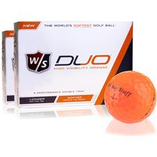Wilson Staff Duo Orange Golf Balls - 2 Dozen