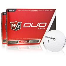 Wilson Staff Duo Spin Golf Balls - 2 Dozen