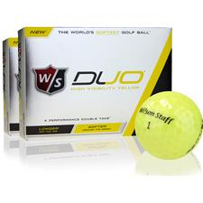 Wilson Staff Duo Yellow Golf Balls - 2 Dozen