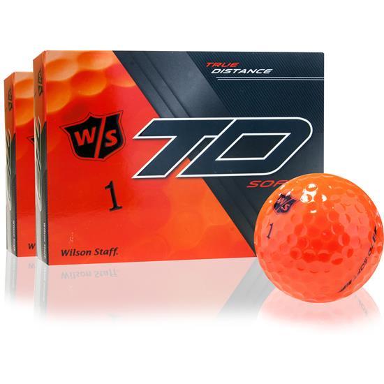 Wilson Staff True Distance Soft Orange Golf Balls - 2 Dozen