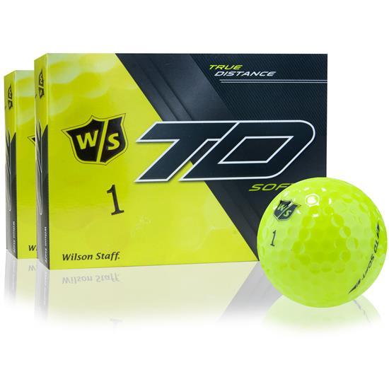 Wilson Staff True Distance Soft Yellow Golf Balls - 2 Dozen