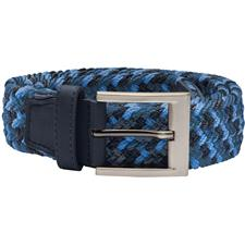 Adidas Braided Weave Stretch Belt - Dark Slate-Royal Blue-Blast Blue - Small/Medium