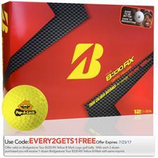 Bridgestone Custom Logo Tour B330-RX Yellow B Mark Golf Ball